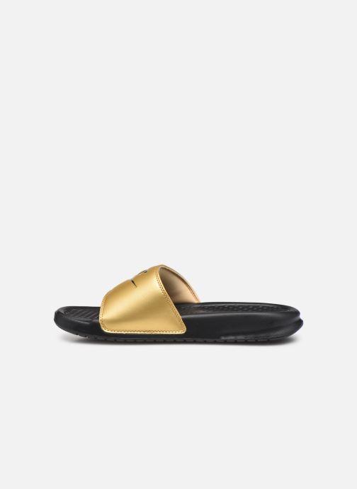 Mules et sabots Nike Wmns Benassi Jdi Or et bronze vue face