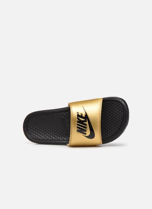 Mules et sabots Nike Wmns Benassi Jdi Or et bronze vue gauche