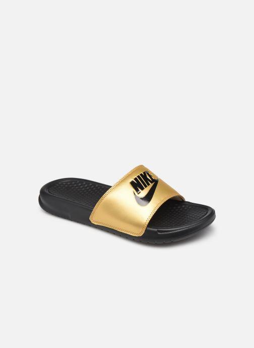 Mules et sabots Nike Wmns Benassi Jdi Or et bronze vue détail/paire