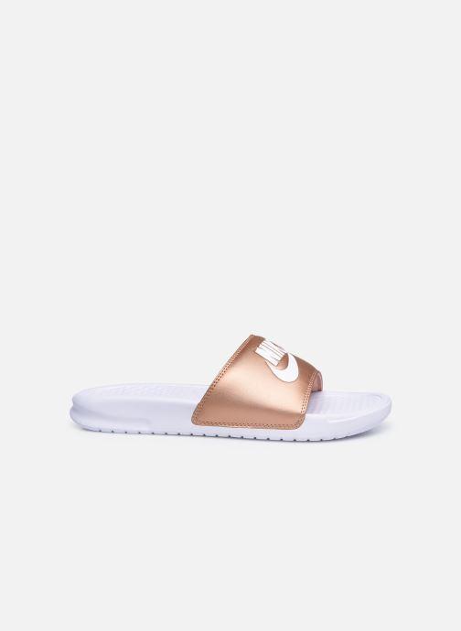 Clogs & Pantoletten Nike Wmns Benassi Jdi silber ansicht von hinten