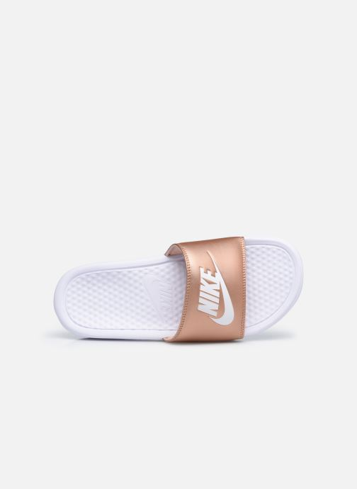 Zuecos Nike Wmns Benassi Jdi Plateado vista lateral izquierda