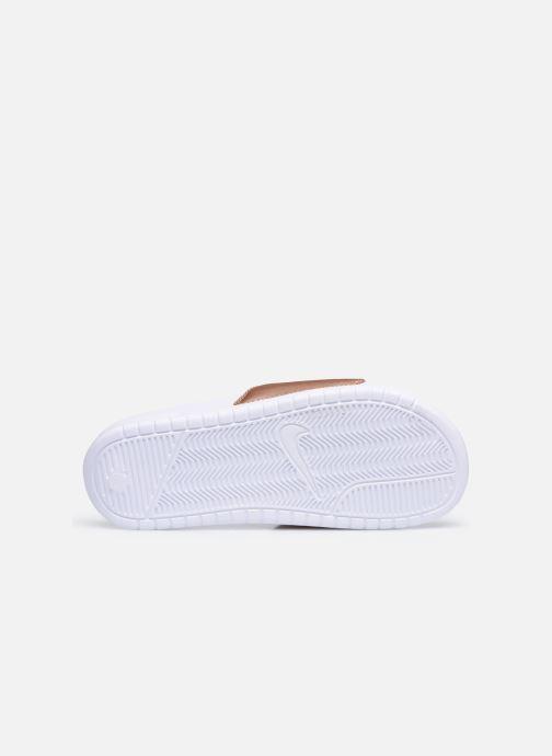 Zuecos Nike Wmns Benassi Jdi Plateado vista de arriba