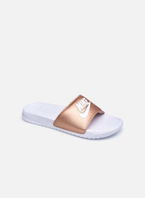 Mules et sabots Nike Wmns Benassi Jdi Argent vue détail/paire