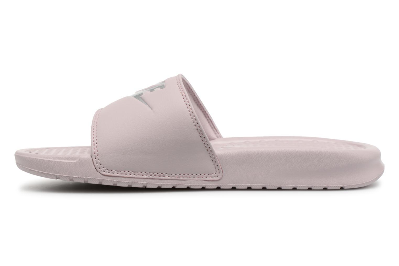 Zuecos Nike Wmns Benassi Jdi Rosa vista de frente