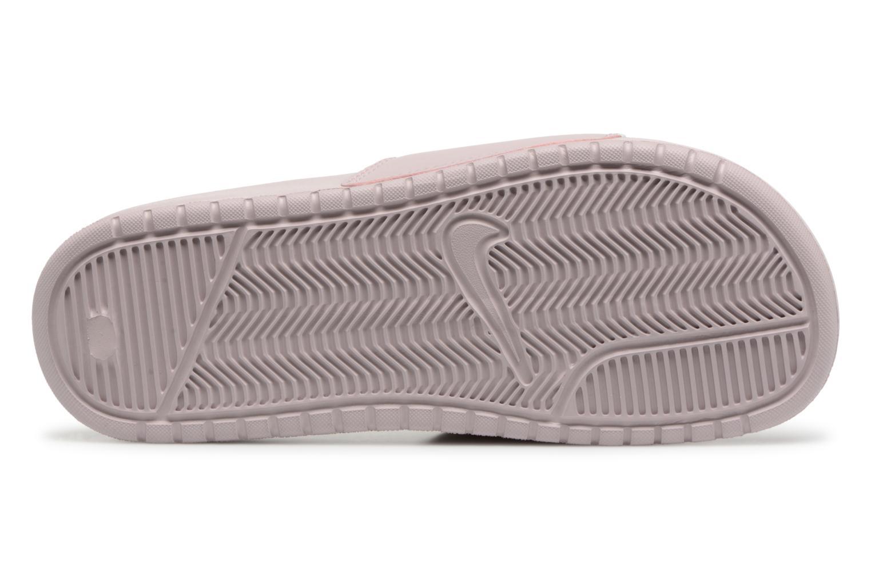 Zuecos Nike Wmns Benassi Jdi Rosa vista de arriba