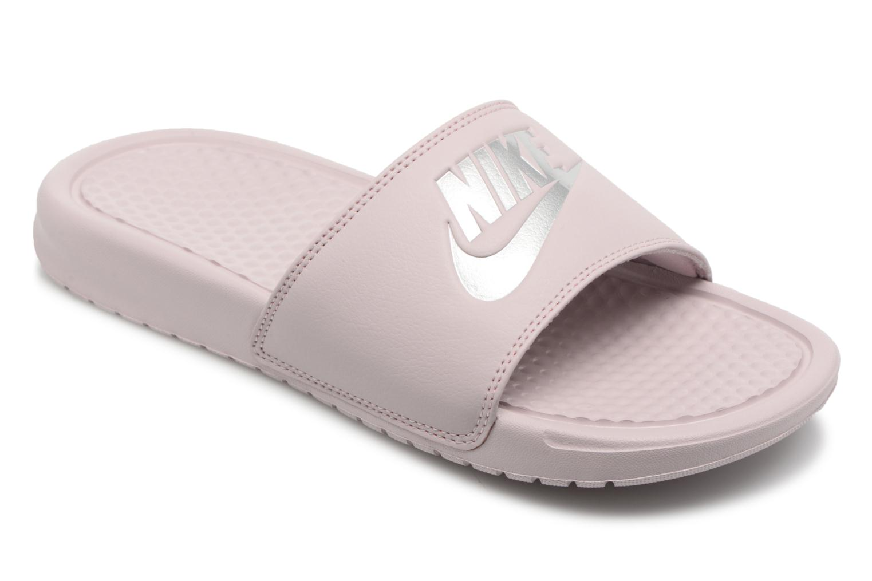 Zuecos Nike Wmns Benassi Jdi Rosa vista de detalle / par
