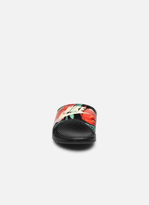 Mules et sabots Nike Wmns Benassi Jdi Print Noir vue portées chaussures
