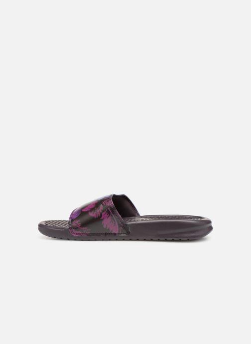 Mules et sabots Nike Wmns Benassi Jdi Print Violet vue face