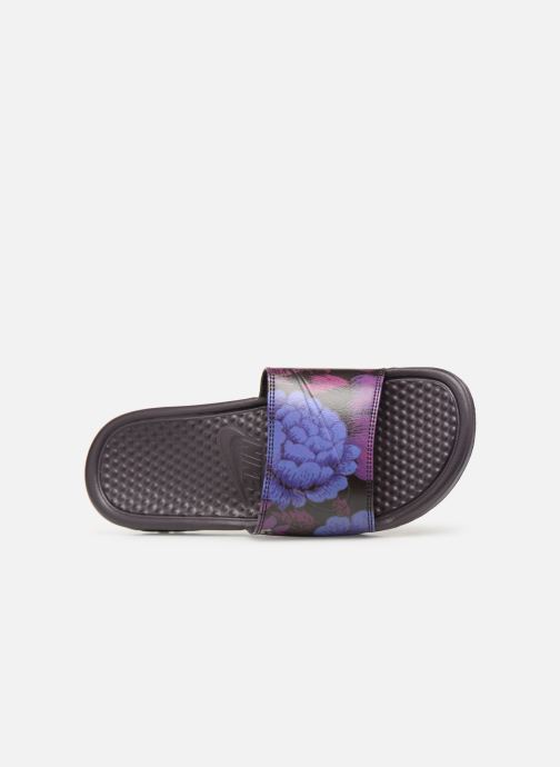 Mules & clogs Nike Wmns Benassi Jdi Print Purple view from the left