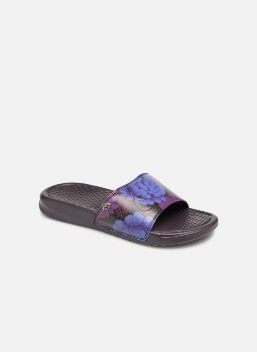 Mules et sabots Nike Wmns Benassi Jdi Print Violet vue détail/paire