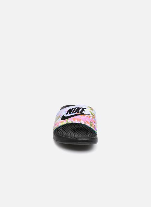 Zoccoli Nike Wmns Benassi Jdi Print Nero modello indossato