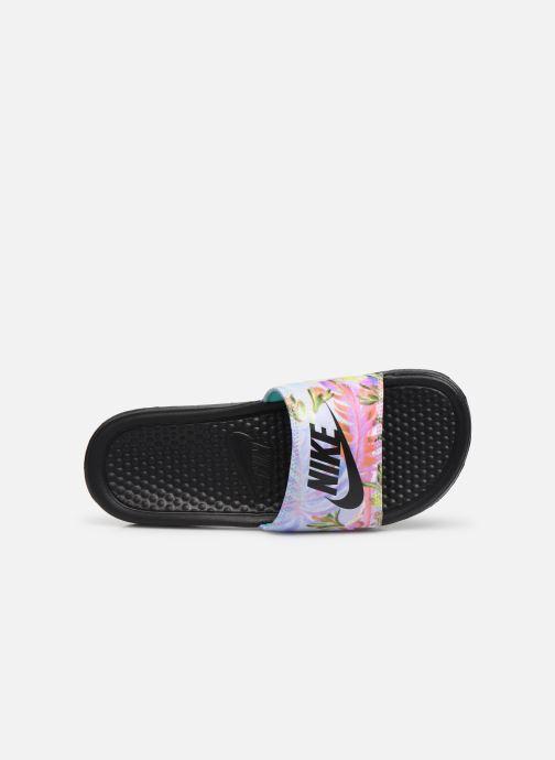 Zuecos Nike Wmns Benassi Jdi Print Negro vista lateral izquierda