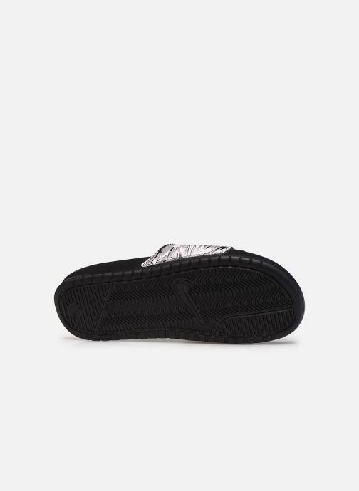 Clogs & Pantoletten Nike Wmns Benassi Jdi Print schwarz ansicht von oben
