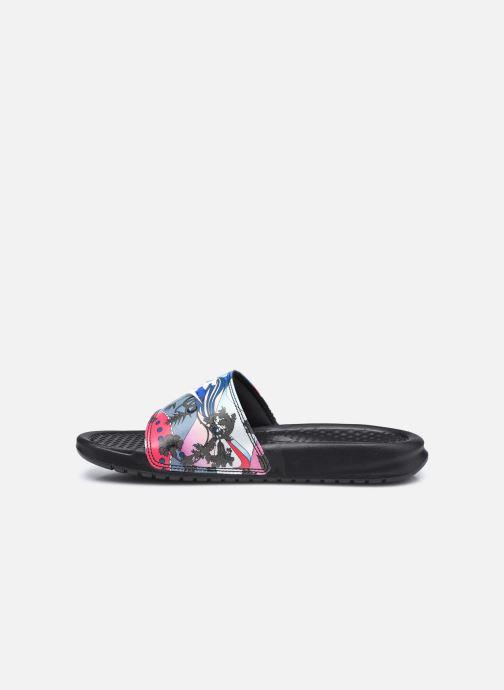 Zuecos Nike Wmns Benassi Jdi Print Negro vista de frente