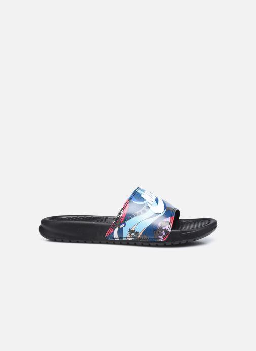 Clogs & Pantoletten Nike Wmns Benassi Jdi Print schwarz ansicht von hinten