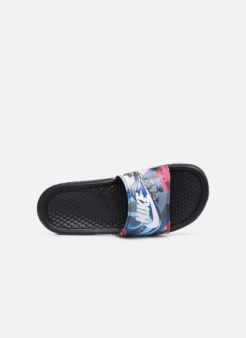 Clogs & Pantoletten Nike Wmns Benassi Jdi Print schwarz ansicht von links