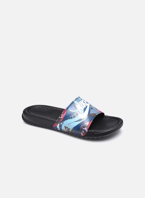 Zuecos Nike Wmns Benassi Jdi Print Negro vista de detalle / par