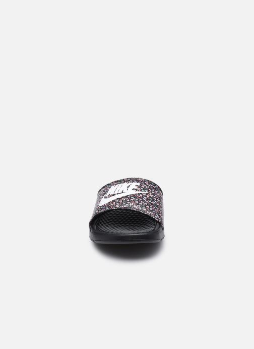 Clogs & Pantoletten Nike Wmns Benassi Jdi Print schwarz schuhe getragen