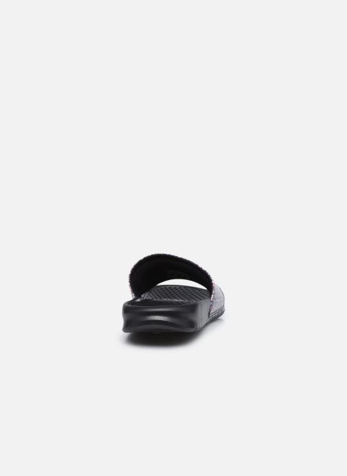 Zuecos Nike Wmns Benassi Jdi Print Negro vista lateral derecha