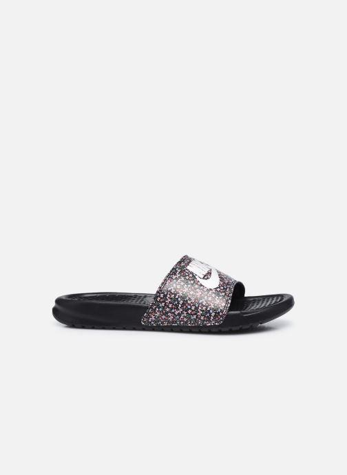 Zuecos Nike Wmns Benassi Jdi Print Negro vistra trasera