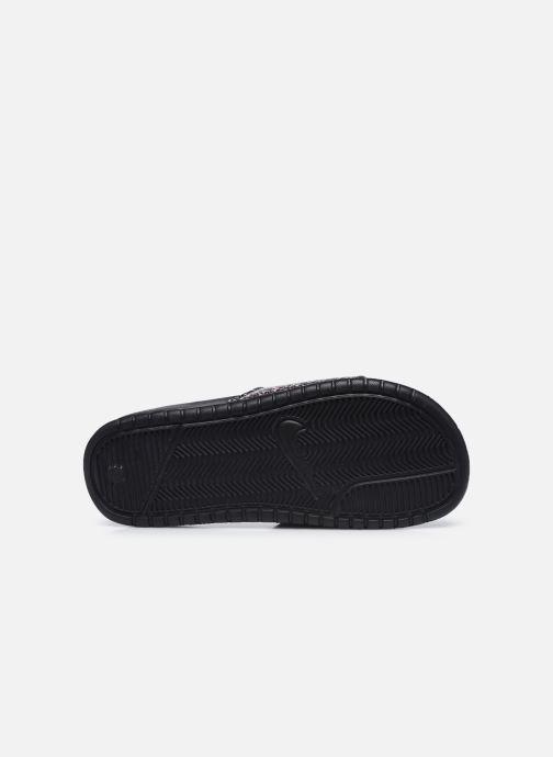 Zuecos Nike Wmns Benassi Jdi Print Negro vista de arriba