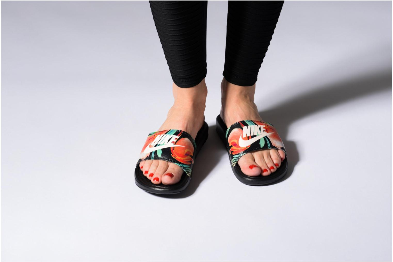 Zoccoli Nike Wmns Benassi Jdi Print Nero immagine dal basso