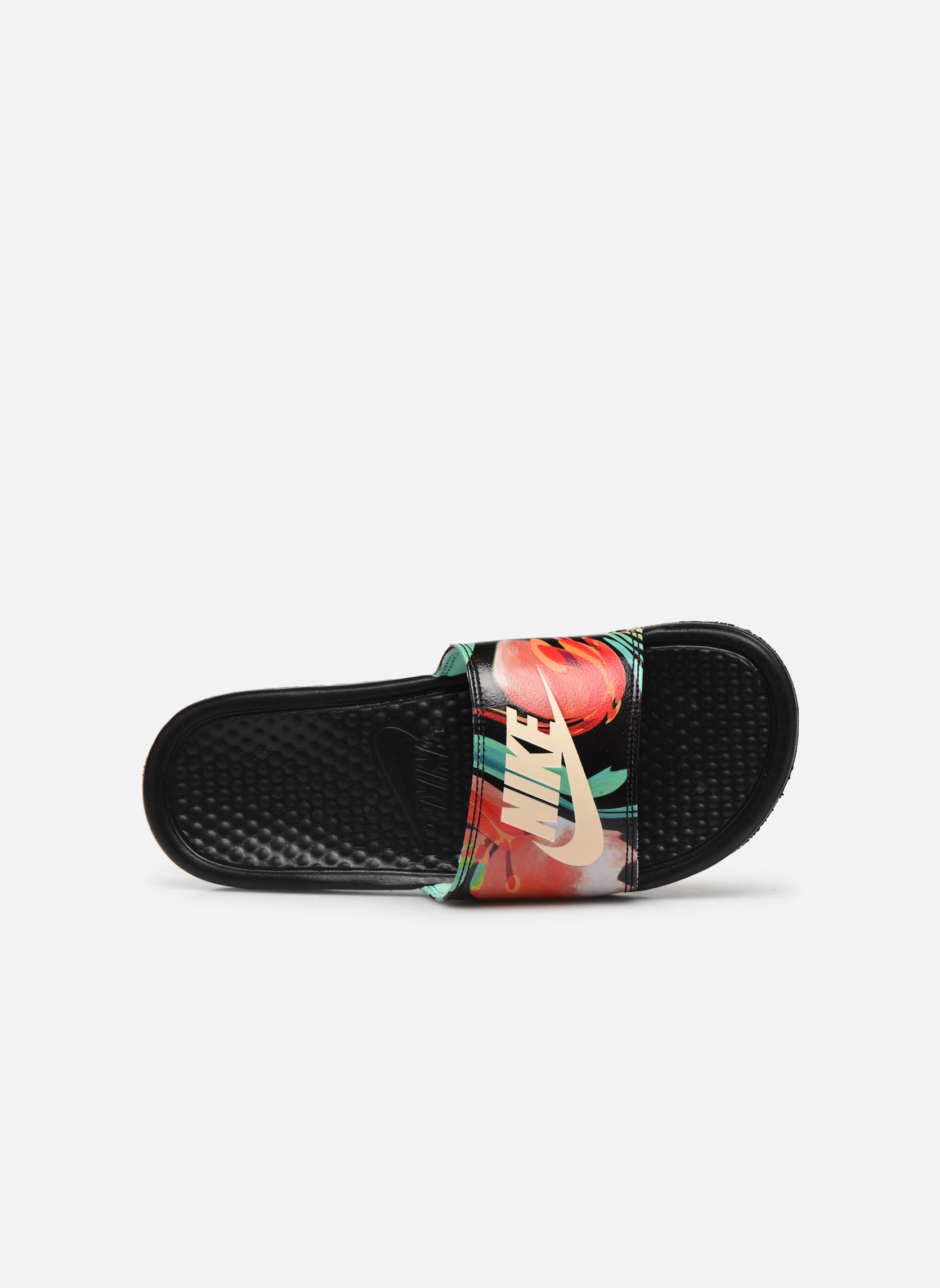 Zoccoli Nike Wmns Benassi Jdi Print Nero immagine sinistra