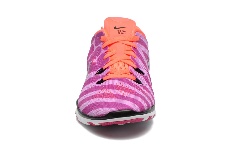 Chaussures de sport Nike Wmns Nike Free 5.0 Tr Fit 5 Prt Violet vue portées chaussures