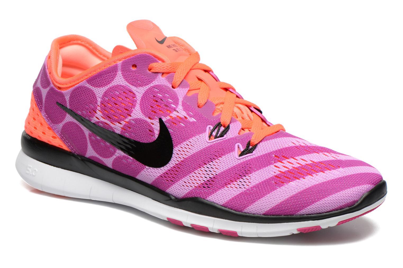 Chaussures de sport Nike Wmns Nike Free 5.0 Tr Fit 5 Prt Violet vue détail/paire
