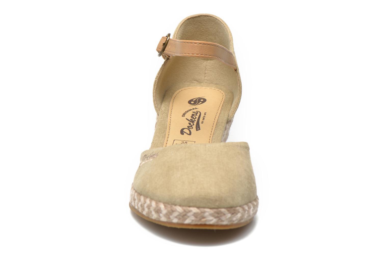 Sandales et nu-pieds Dockers Valet Beige vue portées chaussures