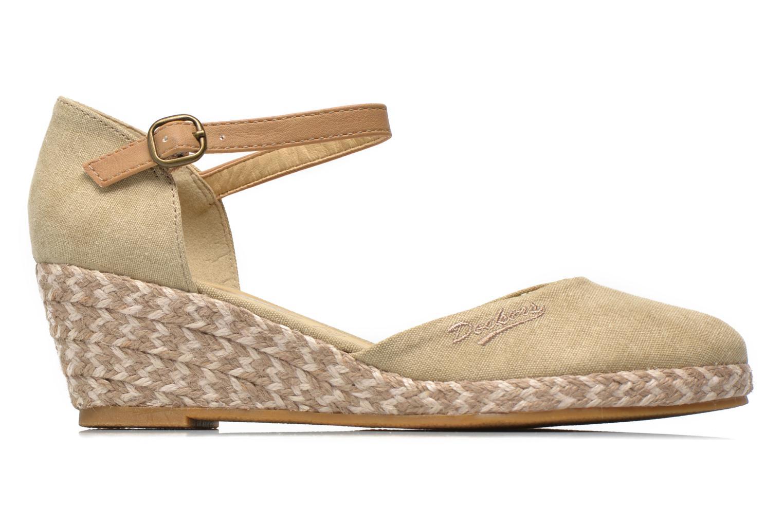 Sandales et nu-pieds Dockers Valet Beige vue derrière