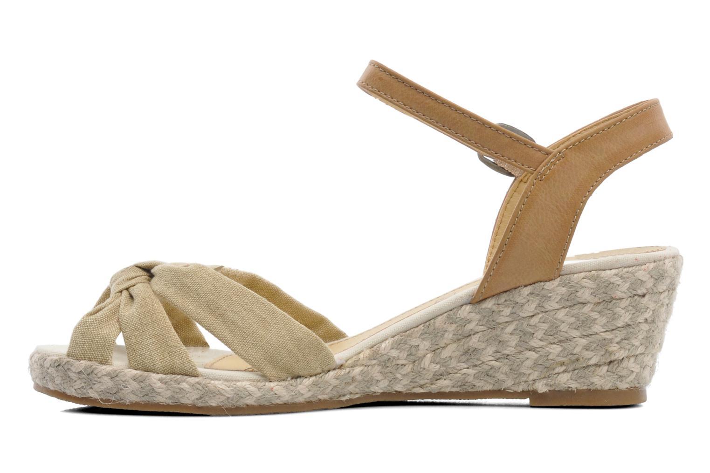 Sandales et nu-pieds Dockers Jekky Beige vue face