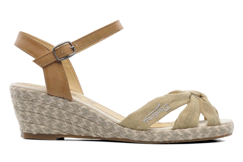 Sandales et nu-pieds Dockers Jekky Beige vue derrière