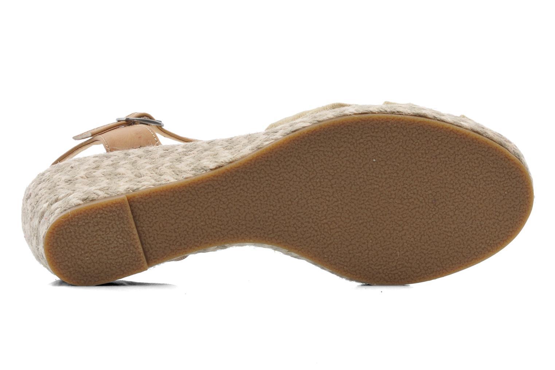 Sandales et nu-pieds Dockers Jekky Beige vue haut