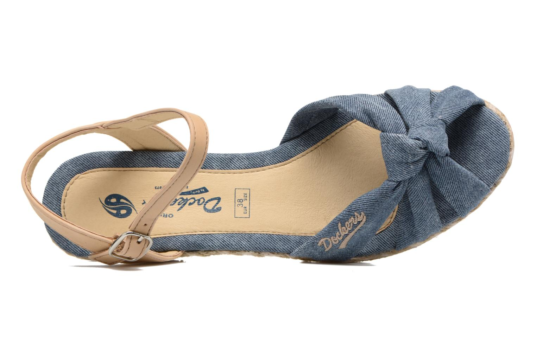 Sandales et nu-pieds Dockers Jekky Bleu vue gauche