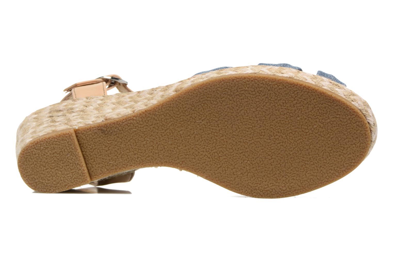 Sandales et nu-pieds Dockers Jekky Bleu vue haut
