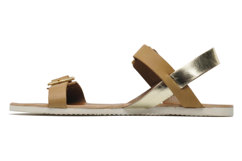 Sandales et nu-pieds No Box Maya Marron vue face
