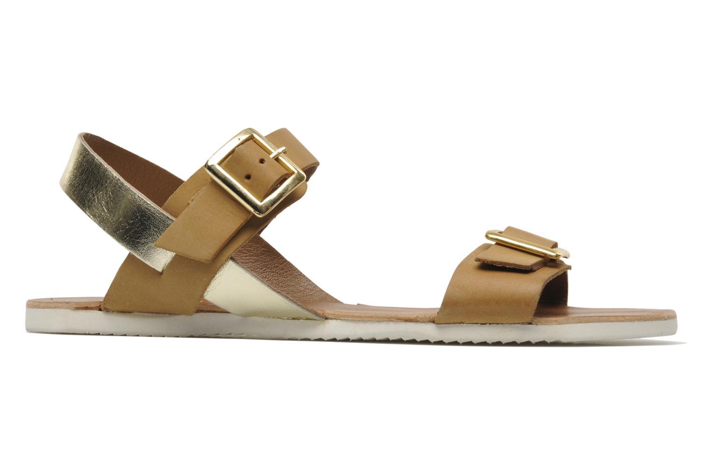 Sandales et nu-pieds No Box Maya Marron vue derrière