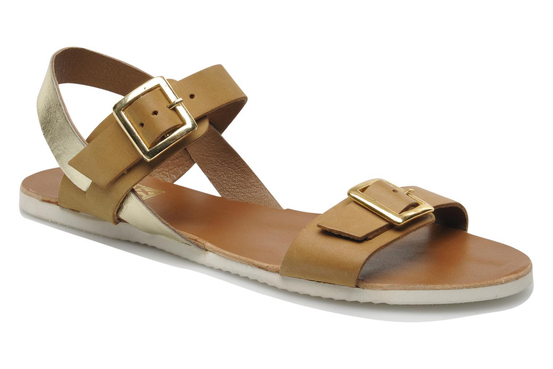 Sandales et nu-pieds No Box Maya Marron vue détail/paire