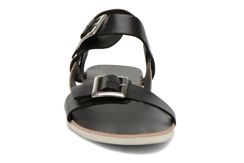 Sandales et nu-pieds No Box Maya Noir vue portées chaussures