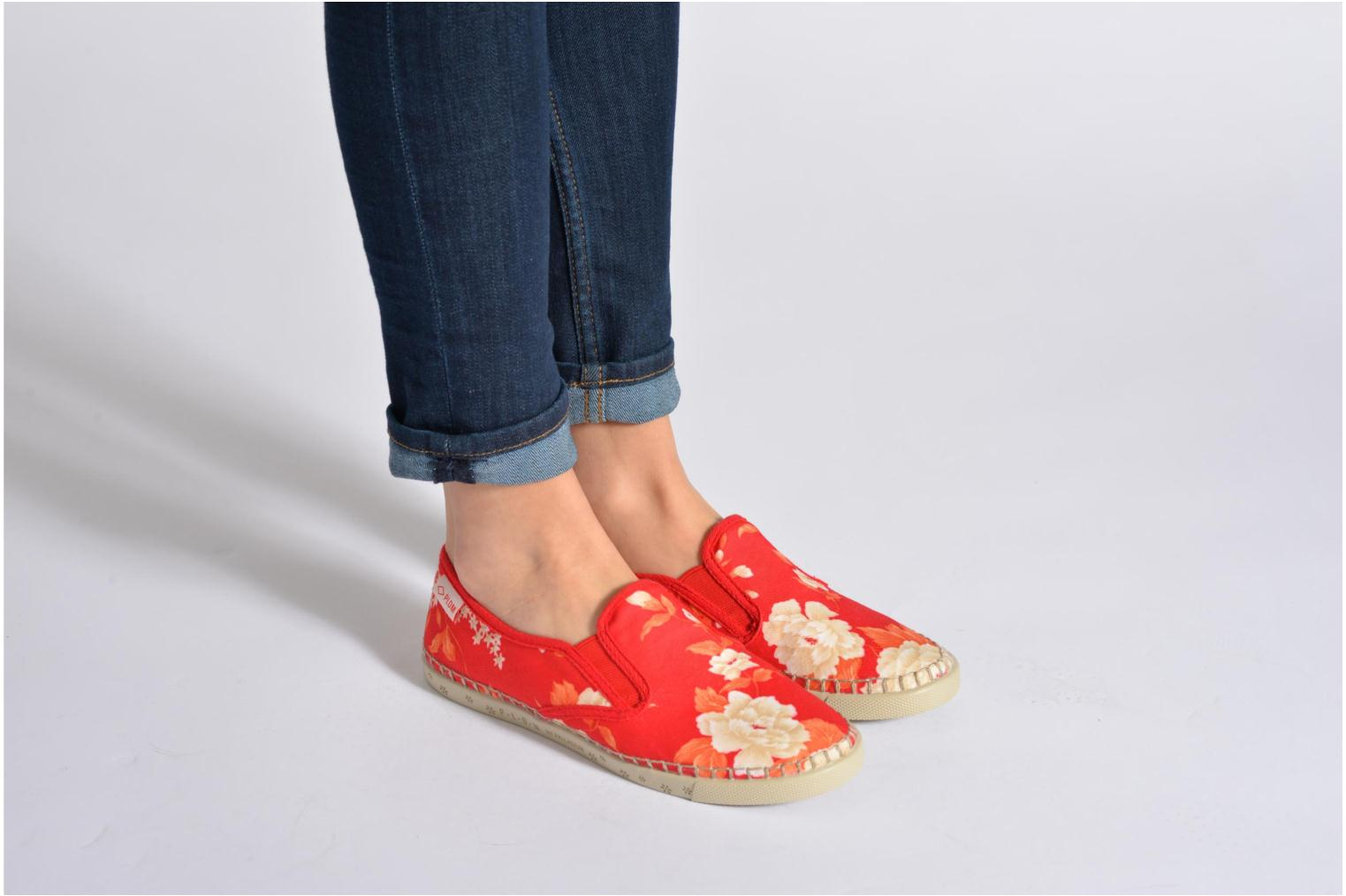 Trainers P-L-D-M By Palladium Bora Big Flower Blue view from underneath / model view