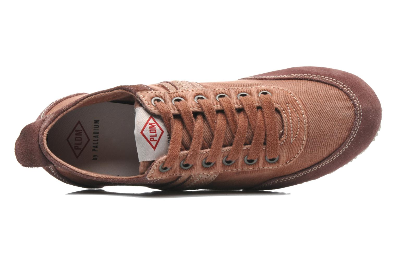 Trainers P-L-D-M By Palladium Rockville Burgundy view from the left