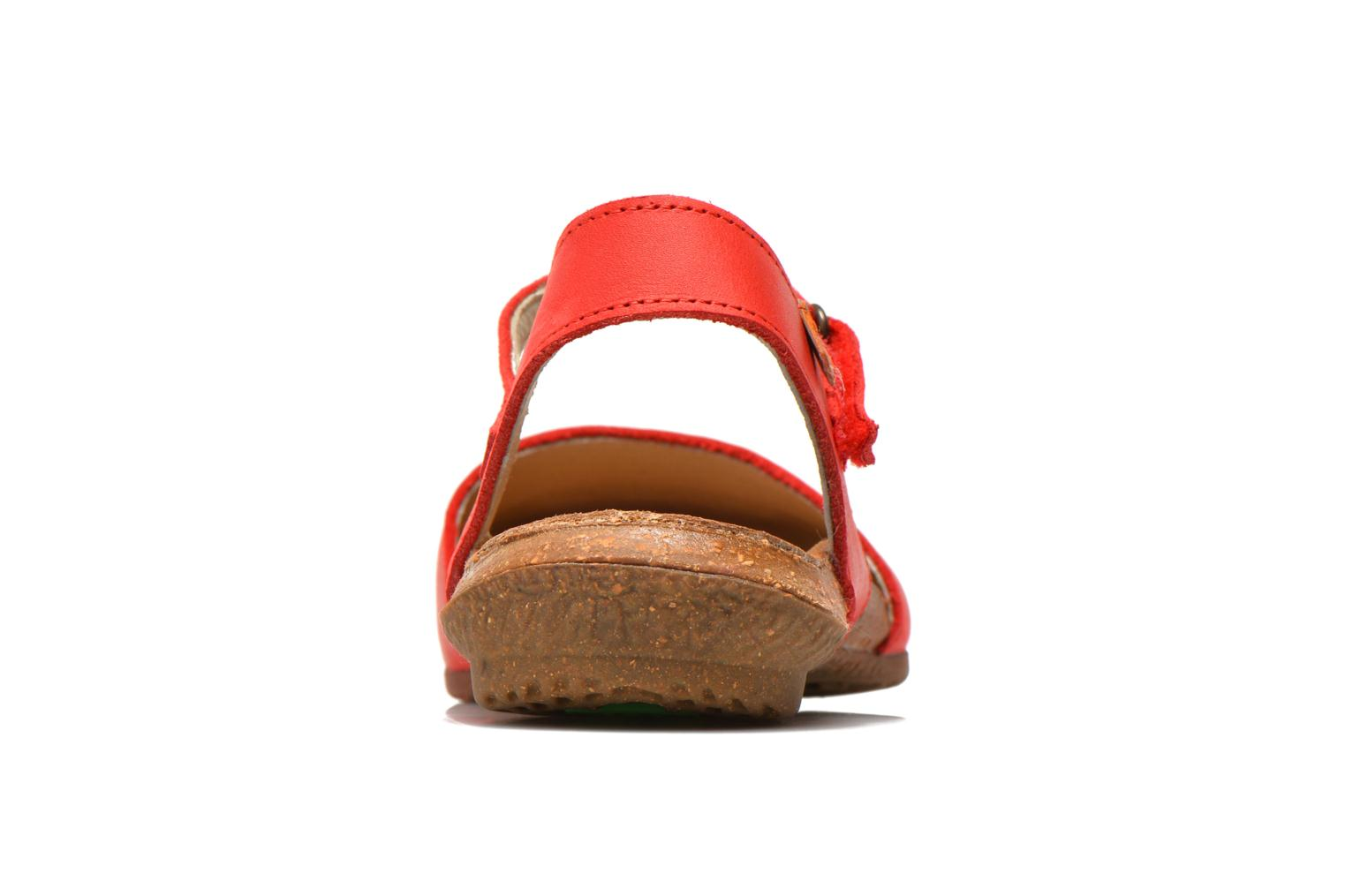 Sandals El Naturalista Wakataua N412 Red view from the right