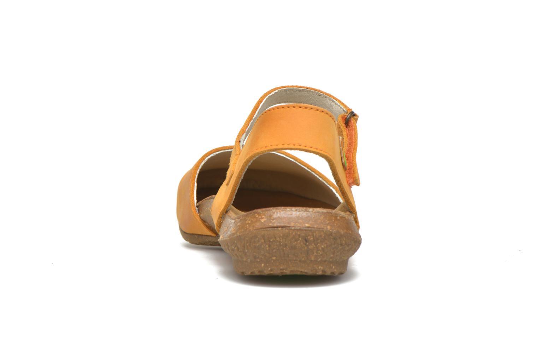 Sandales et nu-pieds El Naturalista Wakataua N412 Orange vue droite