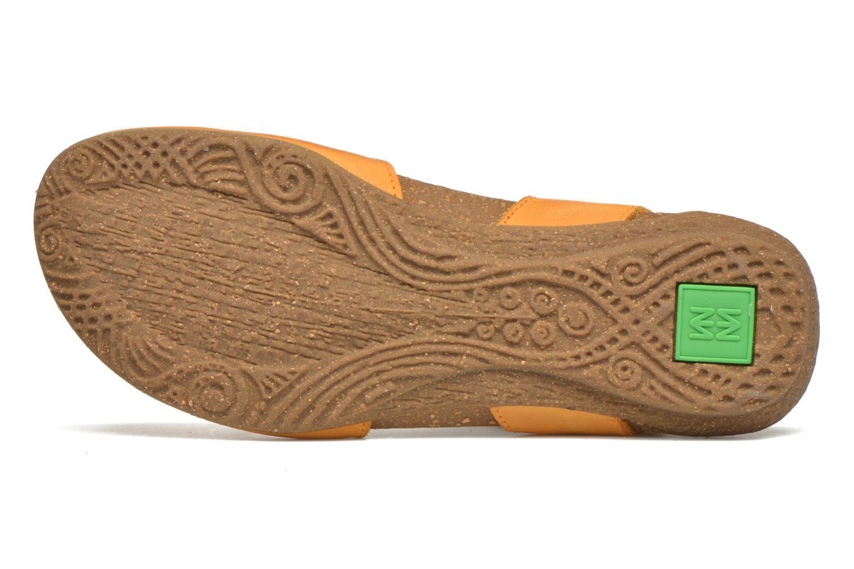 Sandales et nu-pieds El Naturalista Wakataua N412 Orange vue haut