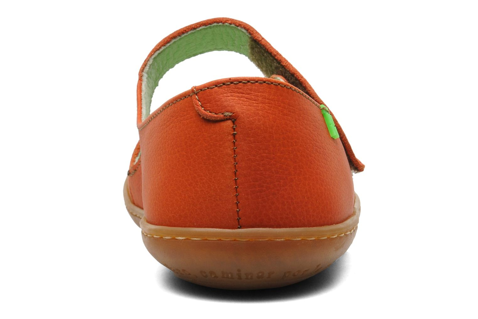 Ballet pumps El Naturalista Viajero N249 Orange view from the right