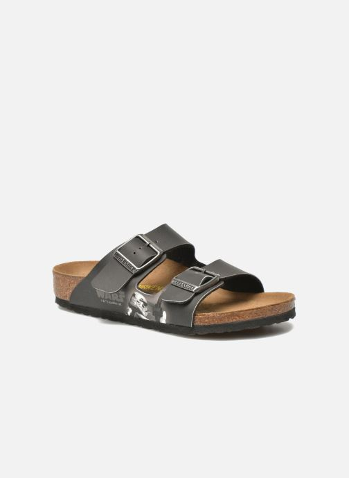 Sandals Birkenstock Arizona Birko-Flor Black detailed view/ Pair view