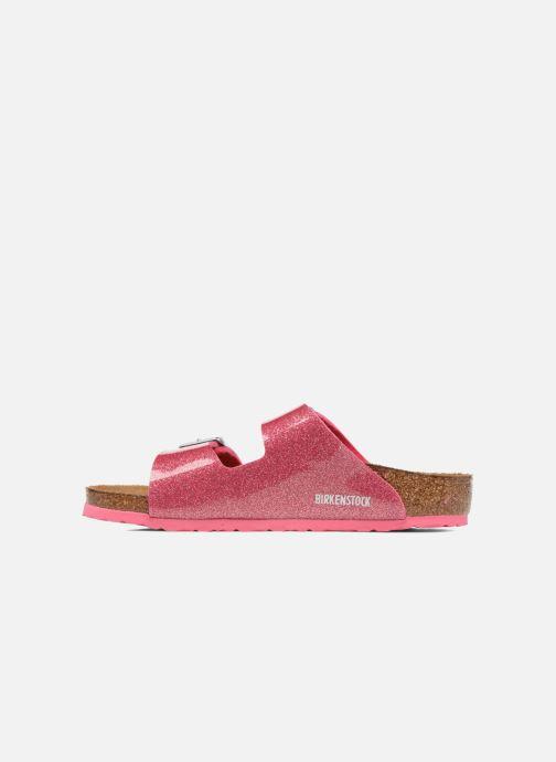 Sandales et nu-pieds Birkenstock Arizona Birko-Flor Rose vue face