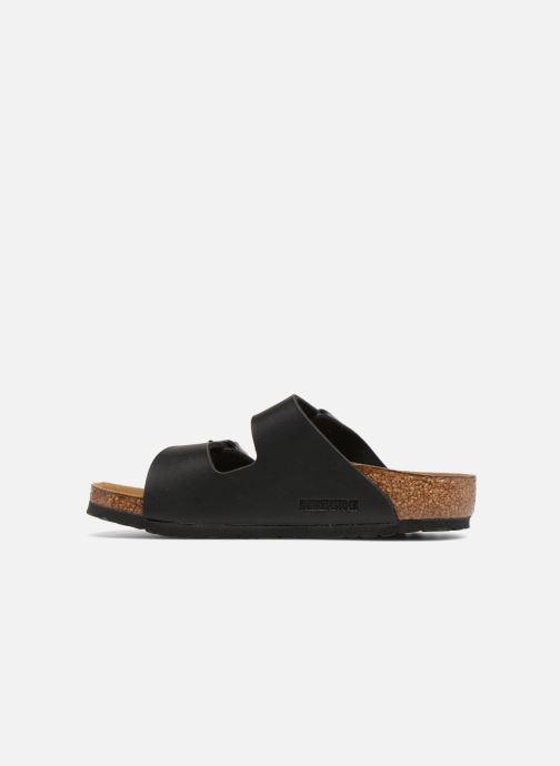 Sandales et nu-pieds Birkenstock Arizona Birko-Flor Noir vue face