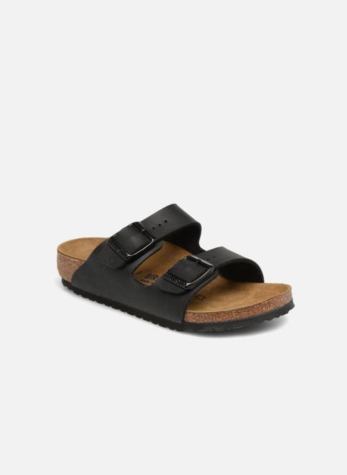 Sandales et nu-pieds Birkenstock Arizona Birko-Flor Noir vue détail/paire